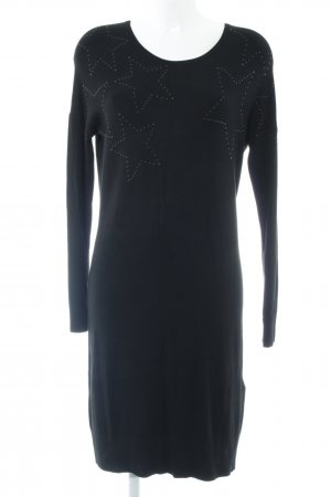 s.Oliver Knitted Dress black star pattern simple style