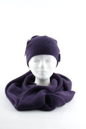 s.Oliver Chapeau en tricot violet foncé style décontracté