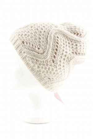 s.Oliver Knitted Hat natural white cable stitch casual look