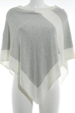 s.Oliver Poncho in maglia grigio chiaro-bianco sporco stile casual