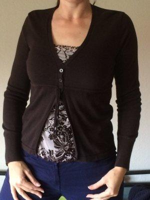 S.Oliver Strickpulli/-Shirt mit Stoff-Einsatz