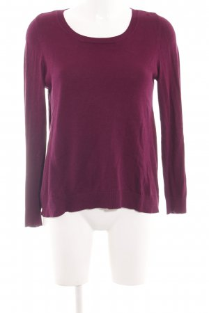 s.Oliver Strickpullover pink Allover-Druck Casual-Look
