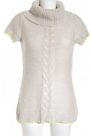 s.Oliver Knitted Sweater beige-neon green casual look