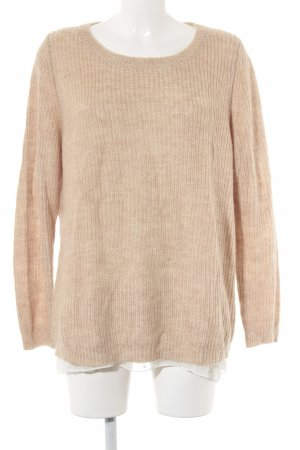 s.Oliver Strickpullover beige-weiß Punktemuster Casual-Look