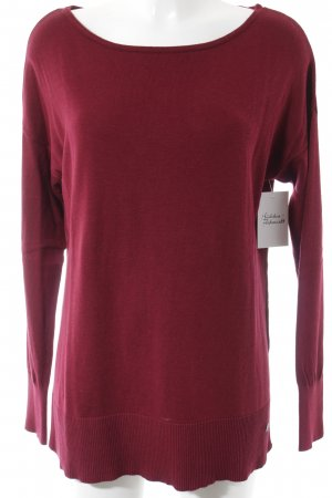 s.Oliver Strickpullover bordeauxrot Casual-Look
