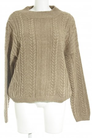 s.Oliver Strickpullover camel Lochstrickmuster Casual-Look