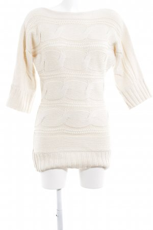 s.Oliver Strickpullover creme Zopfmuster Casual-Look