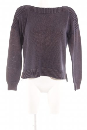 s.Oliver Strickpullover dunkelblau-apricot meliert Casual-Look