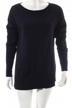 s.Oliver Strickpullover dunkelblau Casual-Look