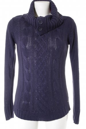 s.Oliver Strickpullover dunkelblau Zopfmuster Casual-Look