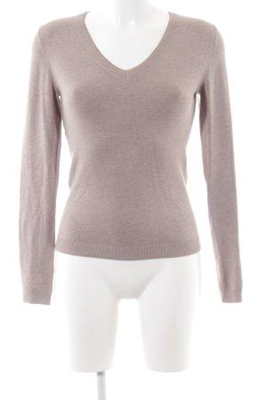 s.Oliver Pull tricoté violet moucheté style décontracté