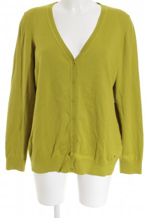 s.Oliver Strickpullover limettengelb Casual-Look