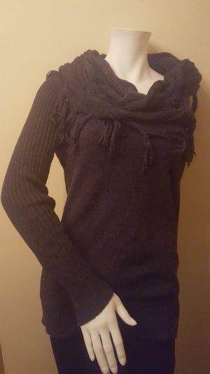 s.Oliver Jersey de lana gris antracita tejido mezclado
