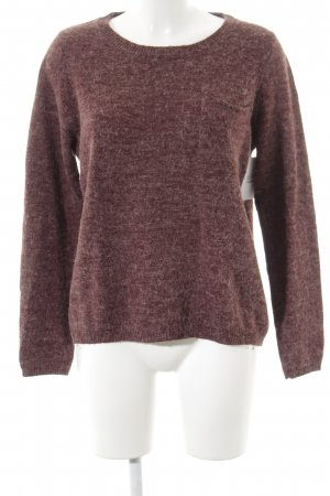 s.Oliver Strickpullover purpur meliert Casual-Look