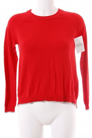 s.Oliver Strickpullover rot-grau Casual-Look