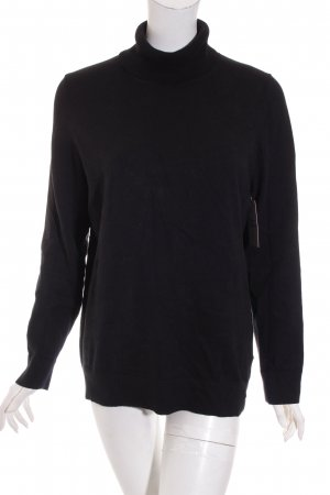 s.Oliver Strickpullover schwarz Casual-Look