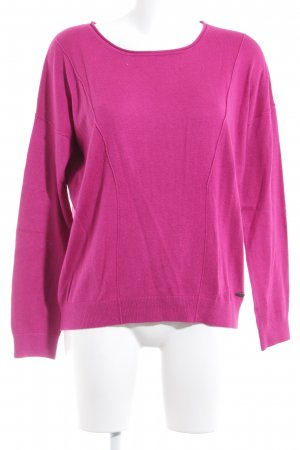 s.Oliver Strickpullover violett Casual-Look