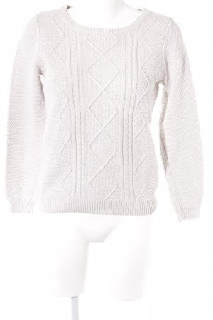 s.Oliver Strickpullover wollweiß Casual-Look
