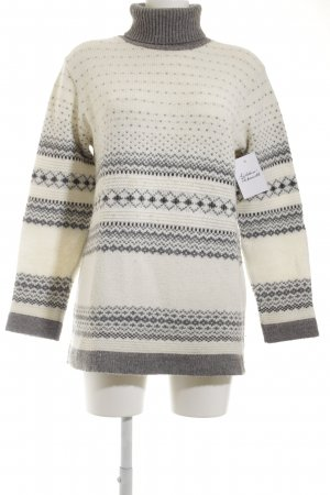 s.Oliver Strickpullover wollweiß-grau Herzmuster Casual-Look