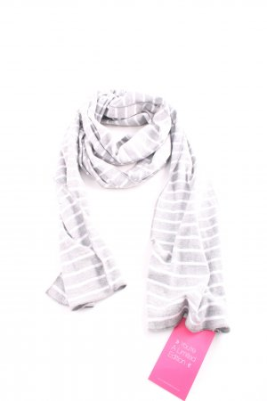 s.Oliver Knitted Scarf light grey-white striped pattern casual look