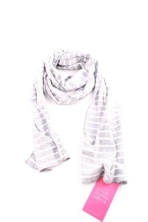 s.Oliver Bufanda de punto gris claro-blanco estampado a rayas look casual