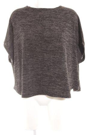 s.Oliver Gebreid shirt donkergrijs-zwart gestippeld casual uitstraling