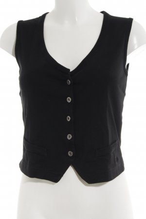 s.Oliver Gilet tricoté noir style d'affaires