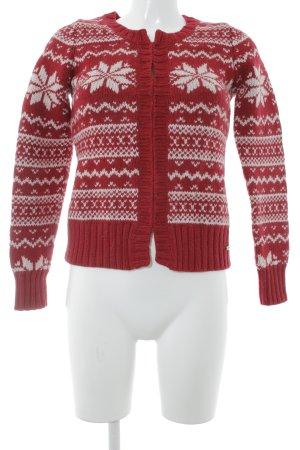 s.Oliver Smanicato lavorato a maglia rosso-bianco stile casual