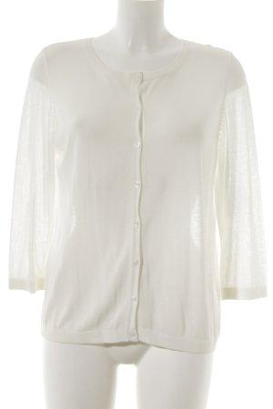 s.Oliver Gilet tricoté blanc cassé style simple