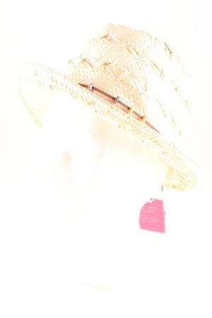 s.Oliver Cappello di paglia crema-marrone stile spiaggia