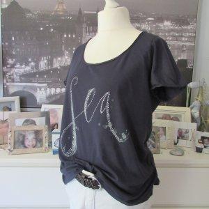 S.Oliver * Süßes T-Shirt * dunkelblau SEA Glitzersteinchen * 42