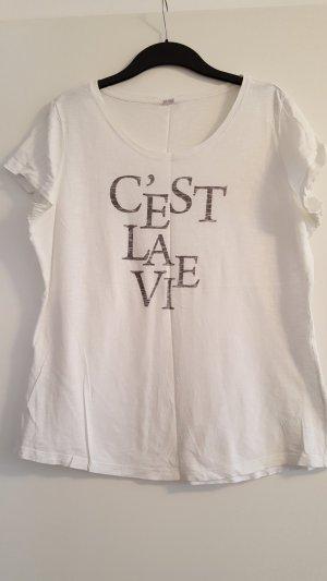 S.Oliver T-Shirt, Aufschrift C'est la vie, Gr. 46