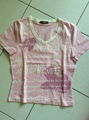 s.Oliver T-Shirt Gr. 38 rosa mit Print kurzer Schnitt
