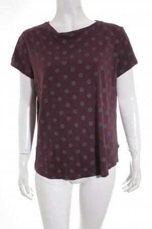 s.Oliver T-Shirt grau-bordeauxrot Punktemuster Casual-Look