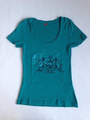 S Oliver t-Shirt in Türkis Größe 34
