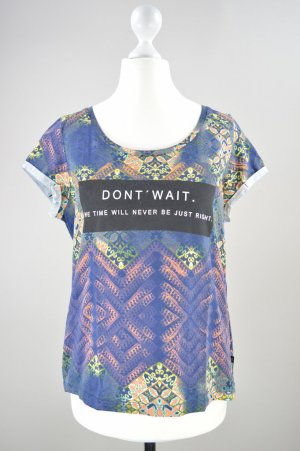 s.Oliver T-Shirt mit Muster und Aufschrift mehrfarbig Größe S