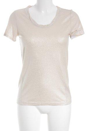 s.Oliver T-Shirt nude Glitzer-Optik