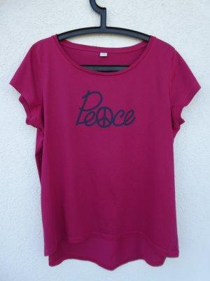 s.Oliver  – T-Shirt, pink mit Aufdruck – Gebraucht, fast wie neu