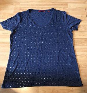 s.Oliver T-shirt argenté-bleu foncé