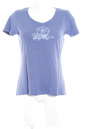 s.Oliver T-Shirt stahlblau Beach-Look