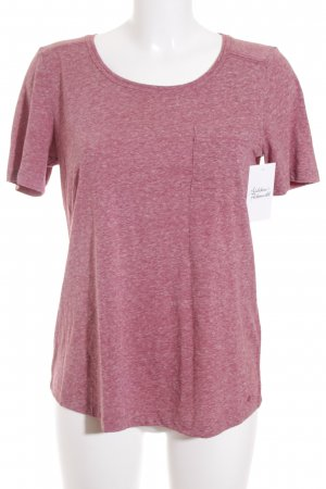 s.Oliver T-Shirt weiß-dunkelviolett meliert Casual-Look