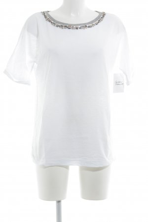 s.Oliver T-Shirt weiß-grau Casual-Look