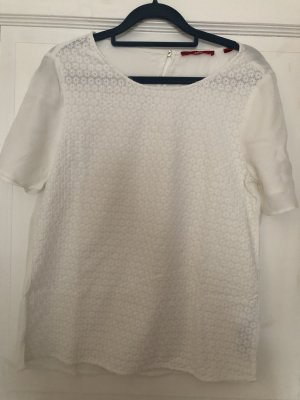 s.Oliver Gebreid shirt wit