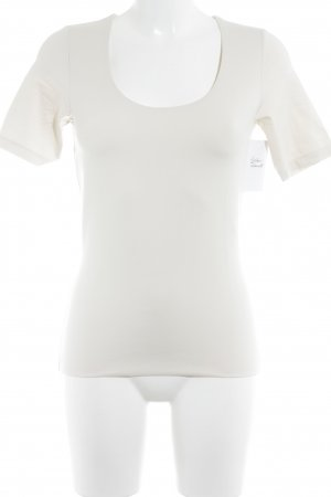 s.Oliver T-Shirt wollweiß-hellbeige Business-Look