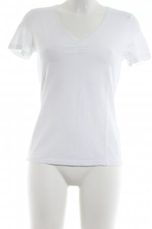 s.Oliver Camiseta blanco puro estilo deportivo