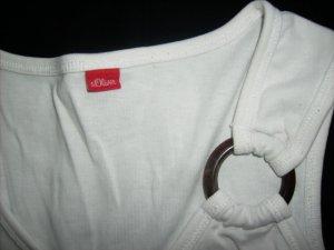 s.Oliver Top- weiß -sweet mit austauschbarem Ring am linken Träger-Gr. XS