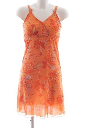 s.Oliver Trägerkleid dunkelorange-orange Blumenmuster Hippie-Look