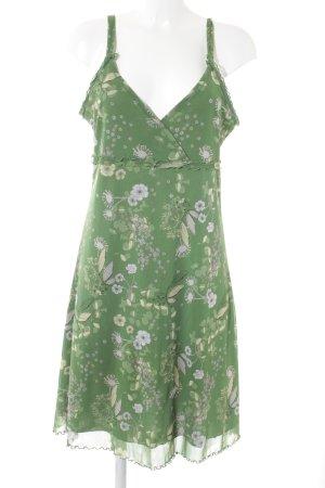 s.Oliver Trägerkleid grasgrün-creme Blumenmuster Casual-Look