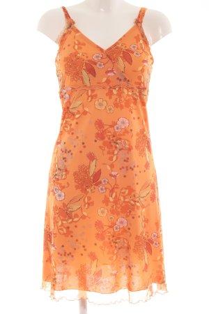 s.Oliver Trägerkleid orange florales Muster Casual-Look