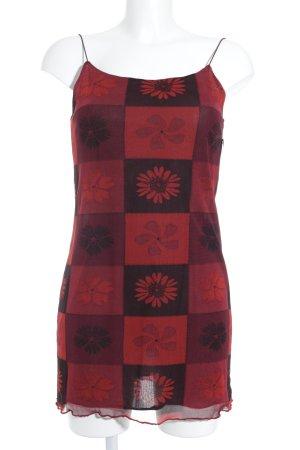s.Oliver Trägerkleid schwarz-karminrot florales Muster klassischer Stil